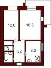 Продам 2 комнатную квртиру