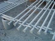 столбики столбы для сетки рябицы,  забора