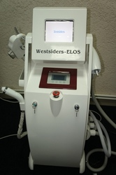 Оборудование для косметологии 3-в-1: ЭЛОС+РЧ +ND YAG лазер