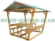 Беседки для дома и дачи деревянные