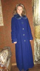 длинное зимнее пальто,  снижена цена