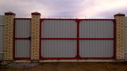 Железные ворота,  калитки,  гаражные и дворовые.